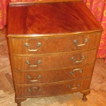 Flamed Mahogany Chest of Drawers - After